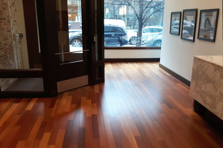 commercial hardwood floor installation - image