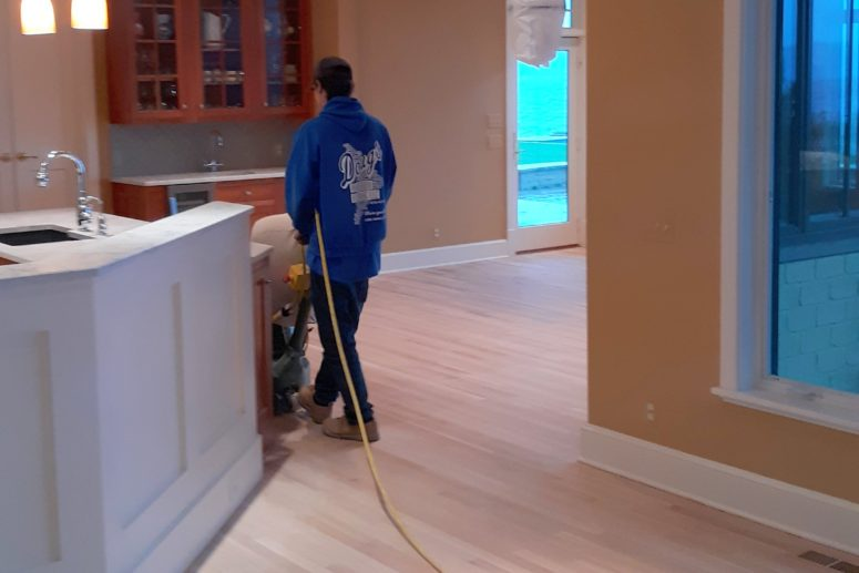 sanding and prep of hardwood floor - image